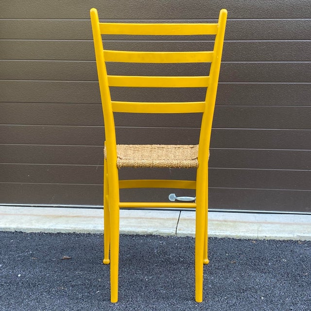 Woven Rope Gio Ponti Style Side Chair For Sale In Philadelphia - Image 6 of 12