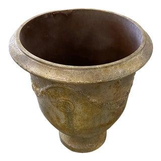 Faux Verdigre Tin Planter For Sale