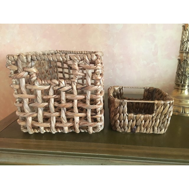 Woven Sea Grass Baskets - Pair - Image 2 of 8