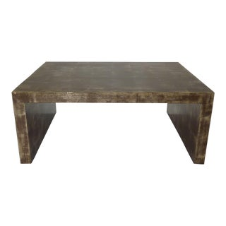 Billy Baldwin Gold Leaf Waterfall Low Table For Sale