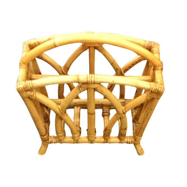 Paul Frankl Rattan Magazine Stand - Image 1 of 3