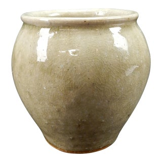 Antique Chinese Song Dynasty Earthenware Glazed Squat Vase For Sale