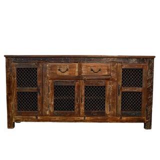 Reclaimed Wood & Iron Sideboard