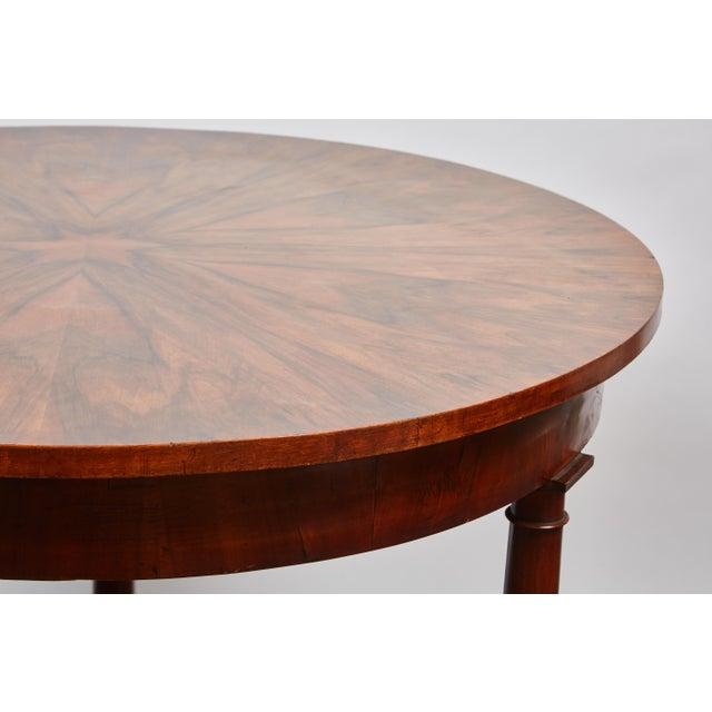 Italian Empire Deep Brown Walnut Center Table - Image 4 of 9