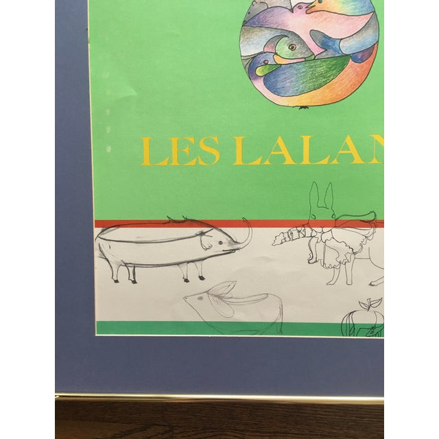 Contemporary Les Lalanne Alexandre Iolas Vintage Poster For Sale - Image 3 of 9