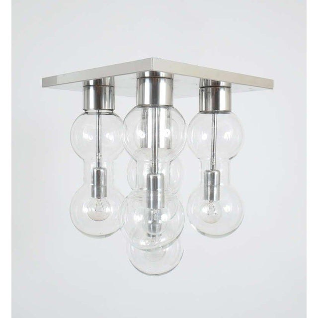 1960 Hourglass Glass Flush Mount by Doria For Sale - Image 4 of 6