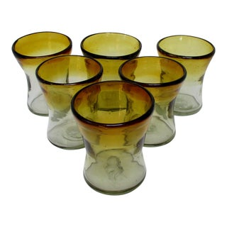 Rustic Mexican Glasses, Set of 6 For Sale