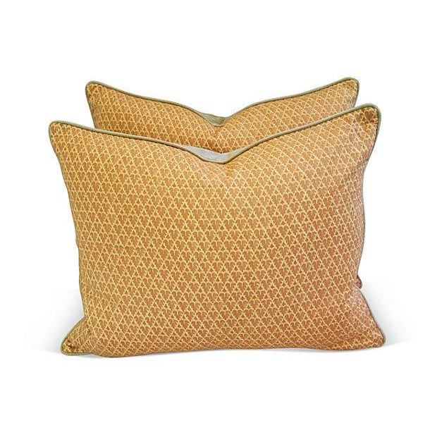 Designer Italian Fortuny Murillo Pillows - Pair - Image 2 of 7