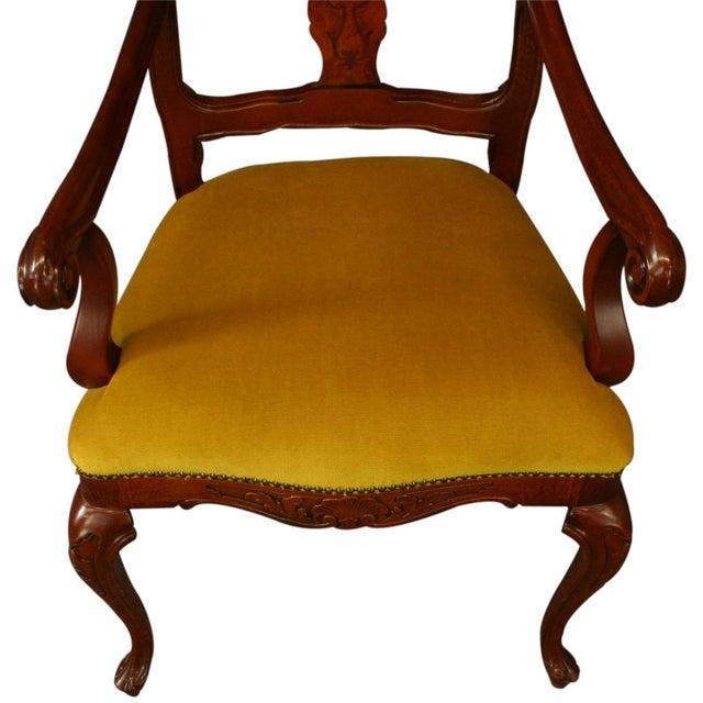 New Italian Rococo Inlay Armchair - Image 4 of 8