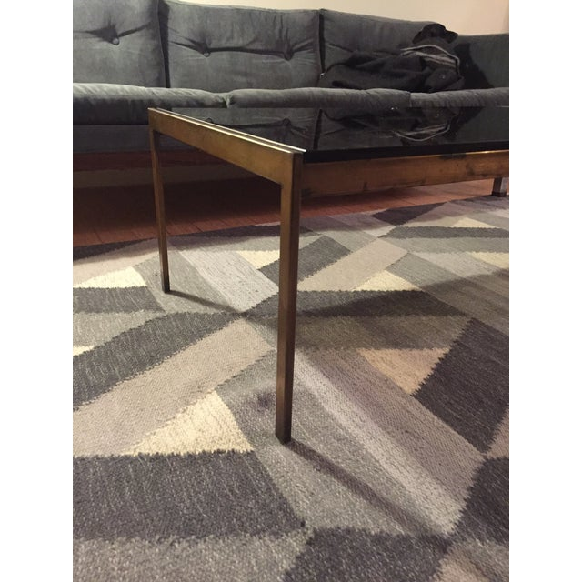 Brass and Smoked Glass Coffee Table - Image 4 of 4
