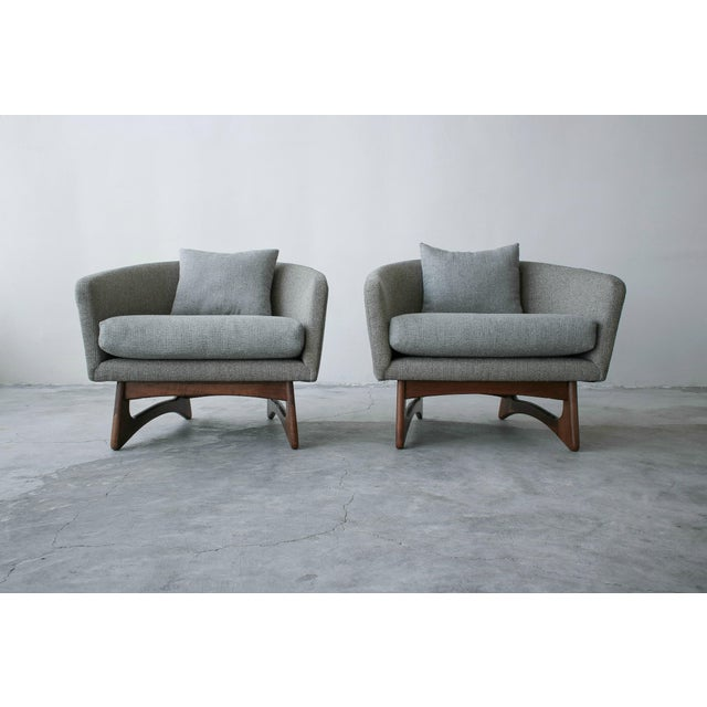 Mid-Century Modern Mid-Century Lounge Chairs by Adrian Pearsall for Craft Associates - a Pair For Sale - Image 3 of 7