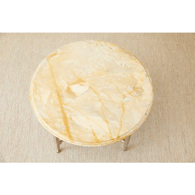 Mid 20th Century Neoclassical Style Silver Gilt Marble-Top Center Table For Sale - Image 5 of 13
