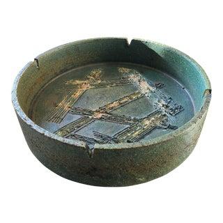 1950s Italian Art Pottery Ashtray by Marcello Fantoni for Raymor Imports For Sale