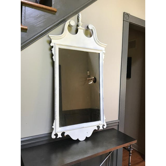 Neoclassical White Mirror For Sale - Image 4 of 6