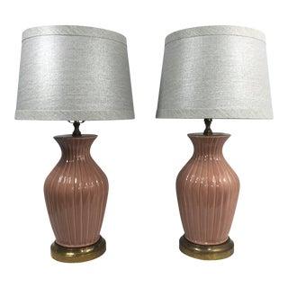 1930s Art Deco Lamps- Pair For Sale