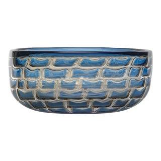 Ingeborg Lundin Orrefors Ariel Glass Bowl For Sale