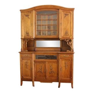 19th Century European Art Nouveau Buffet Hutch For Sale