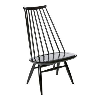 Mademoiselle Lounge Chair in Black by Ilmari Tapiovaara & Artek For Sale