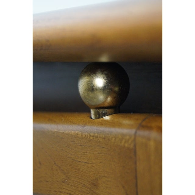 """Lane """"Perspective"""" Walnut End Tables - A Pair - Image 6 of 10"""