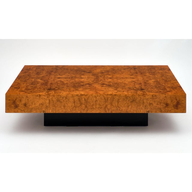 1950s Mid-Century Burl Ash Coffee Table For Sale - Image 5 of 10