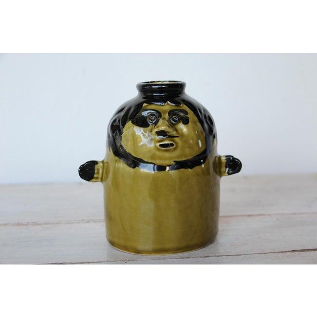 French Zoomorphic Glazed Earthenware Vase For Sale - Image 10 of 10
