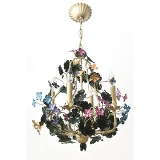Multicolor Tole Flower Chandelier Preview