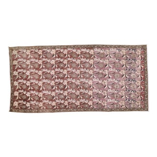 """Vintage Turkish Anatolian Hand Knotted Organic Wool Fine Weave Rug,4'4""""x9'3"""" For Sale"""
