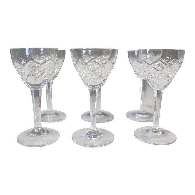 Mid 20th Century Cut Glass Liquor Cordials - Set of 6 For Sale