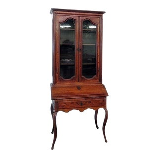 18th C. Louis XVI Style French Inlaid Secretary Desk For Sale