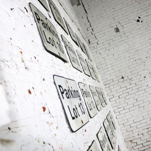 Vintage Metal Parking Lot Number Signs For Sale - Image 10 of 12