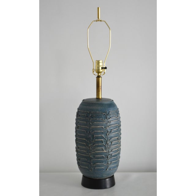 1950s Mid-Century Hand Thrown Ceramic Table Lamp For Sale - Image 13 of 13