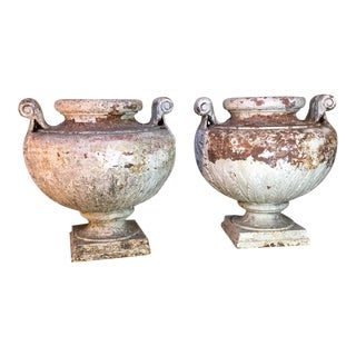 French Iron Jardinieres- A Pair For Sale