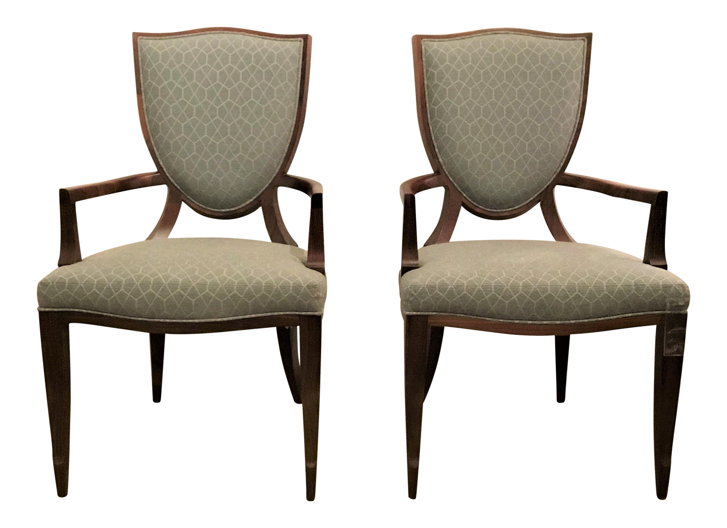 barbara barry furniture. Barbara Barry For Henredon Shield Back Arm Chairs - A Pair Furniture