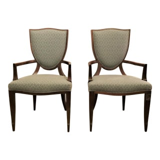 Barbara Barry for Henredon Shield Back Arm Chairs - a Pair