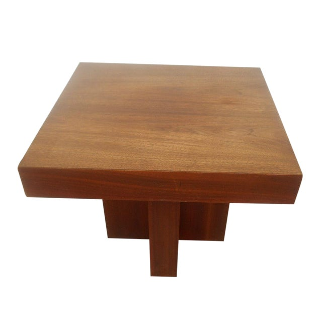 Mid-Century Danish Modern Walnut End Table - Image 1 of 6