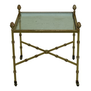 Decorator Gold Gilt Color Metal Occasional Table For Sale