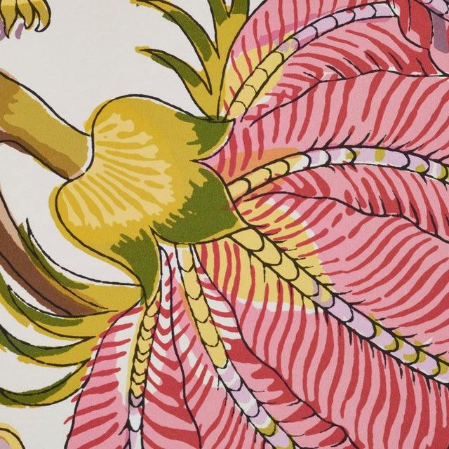 Schumacher Sample- Schumacher Indian Arbre Wallpaper in Spring For Sale - Image 4 of 6