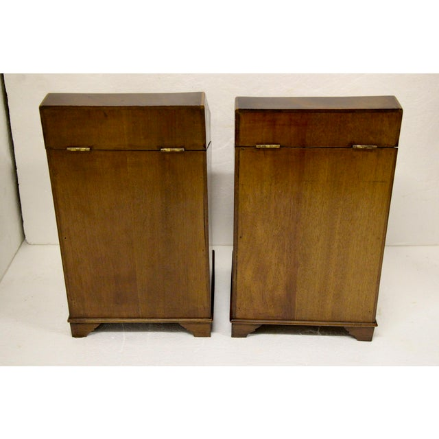 Mid 19th Century English Inlaid Cutlery Boxes, Pair For Sale - Image 5 of 6