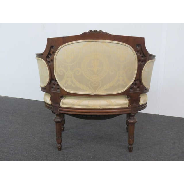Louis XVI Style Settee For Sale - Image 4 of 9