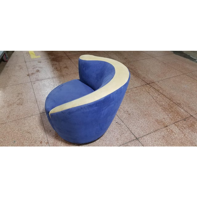 1990s Beautiful Vladimir Kagan Swivel for Weiman For Sale - Image 5 of 6