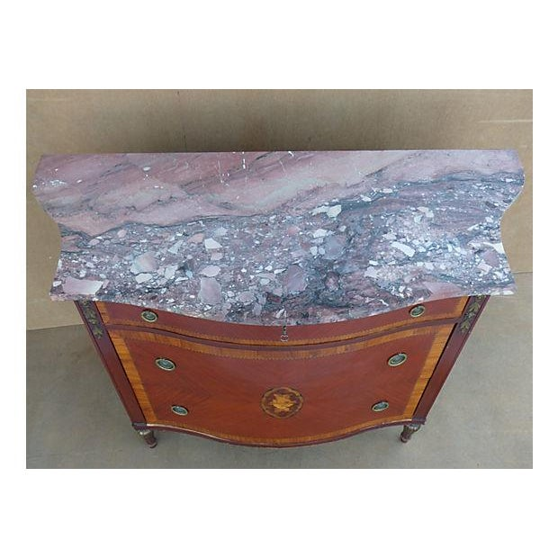 Marquetry & Inlay Marble Top Chest For Sale In Miami - Image 6 of 11