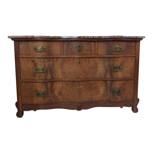 Antique Marble Top Chest For Sale