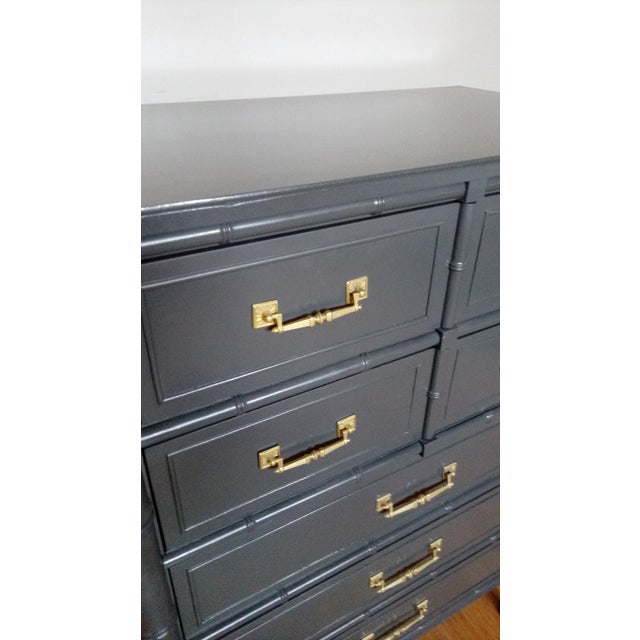 Henry Link Bali Hai Faux Bamboo Highboy Dresser - Image 4 of 7