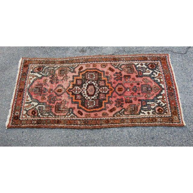 Islamic Semi-Antique Persian Kirman Rug - 3′3″ × 6′5″ For Sale - Image 3 of 6