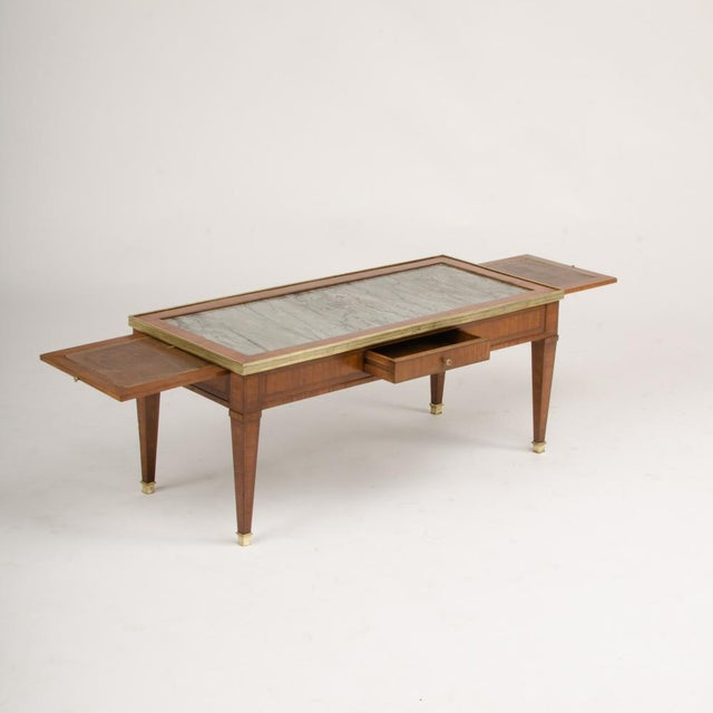1940 French Directoire Style Mahogany Coffee Table For Sale - Image 4 of 6