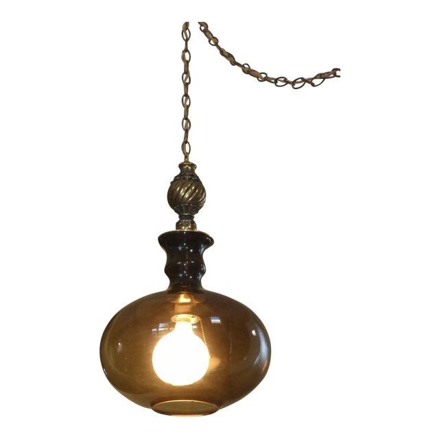 Mid Century Swag Lamp: Vintage Mid Century Modern Hanging Swag Globe Light Lamp W