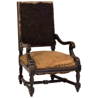 Late 19th Century French Deconstructed Upholstered Arm Chair For Sale