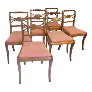 19th Century English Regency Dining Chairs- Set of 6 For Sale