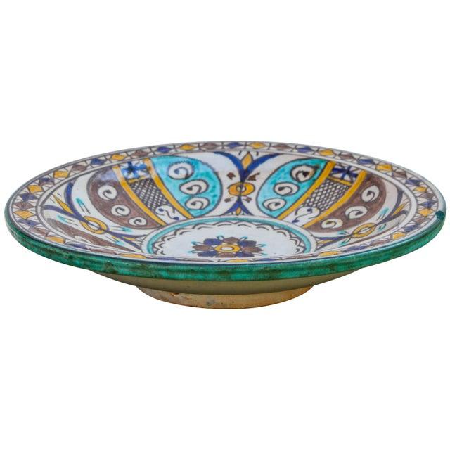 Moroccan Moorish Ceramic Wall Plate For Sale - Image 3 of 9
