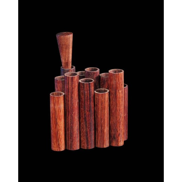 Mid-Century Modern Mid-Century Walnut Pencil or Pen Holder by Sergio Dello Strologo for Xilarte For Sale - Image 3 of 5